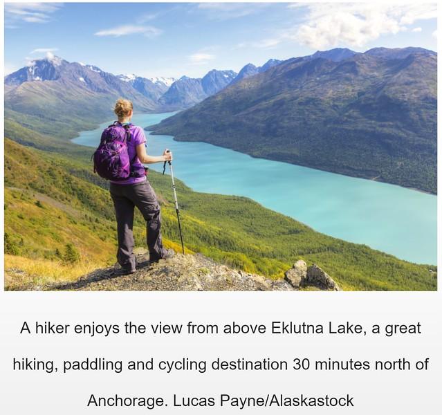 "<div class="""">Female hiker enjoying the view of Eklutna Lake and the Chugach Mountains from the Twin Peaks Trail, Chugach State Park, Southcentral Alaska in the June 2018 issue of <a href=""http://coast-magazine.com/walk-wild-side"" target=""_blank""><b>""Alaska Coast Magazine""</b></a> <br> <br> <a href=""http://coast-magazine.com/walk-wild-side"" target=""_blank""><b>Click here to view the image in Alaska Coast Magazine.</b></a> <br> <br> <a href=""https://www.lucaspaynephotography.com/Alaska/AdventureRecreation/i-vvdqhpP/A"" target=""_blank""><b>Click here to see this image in its original gallery.</b></a></div>"