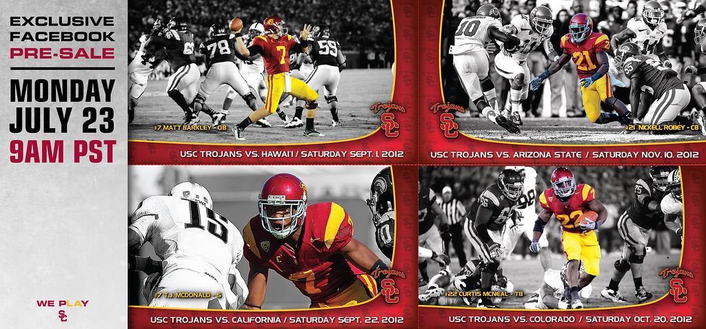 USC Football 2012 Season Tickets