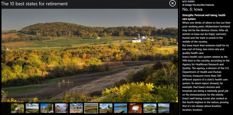 "<div class="""">Scenic view of the rolling farmland and fall foliage along The Great River Road near Balltown in Northeast Iowa published in an msn.com article <a href=""http://www.msn.com/en-us/money/retirement/the-10-best-states-for-retirement/ss-AA9WpQi#image=6"" target=""_blank""><b>""The 10 Best States for Retirement""</b></a> <br> <br> <a href=""http://www.msn.com/en-us/money/retirement/the-10-best-states-for-retirement/ss-AA9WpQi#image=6"" target=""_blank""><b>Click here to view photo and article.</b></a> <br> <br> <a href=""http://www.lucaspaynephotography.com/ImagesoftheMidwest/Iowa/Iowa-Scenic/6356048_WV3BnG#!i=2918830966&amp;k=6RTCPst&amp;lb=1&amp;s=XL"" target=""_blank""><b>Click here to see this image in its original gallery and purchase a print.</b></a></div>"