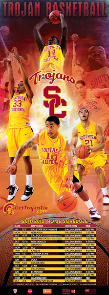 USC Men's Basketball 2011-2012 Poster