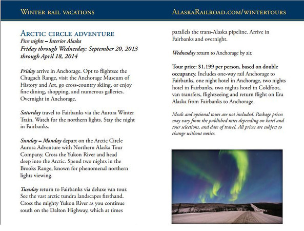 "<div class="""">Northern Lights dancing over the James Dalton Highway (Haul Road) north of Fairbanks, Alaska published in the <a href=""https://www.alaskarailroad.com/LinkClick.aspx?fileticket=Ikr3PX1Q1cs%3D&amp;tabid=321"" target=""_blank""><b>""2013-2014 Alaska Railroad Winter Schedule""</b></a> <br> <br> <a href=""http://www.lucaspaynephotography.com/Alaska/Northern-Lights/3311593_rM5c98#!i=2237036631&amp;k=KHkQ9Xz"" target=""_blank""><b>Click here to see this image in its original gallery and purchase a print.</b></a></div>"