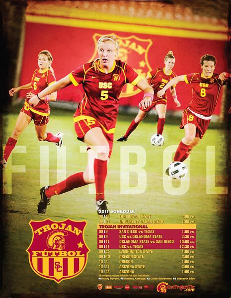 USC Women's Soccer 2011 Poster