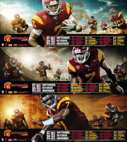 USC Football 2011 Poster Series