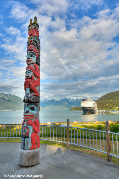 "<div class="""">Totem Pole and the Holland America Cruise Ship Oosterdam docked at the Port of Haines, Southeast Alaska in the February 2018 issue of <a href=""http://www.alaskamagazine.com/"" target=""_blank""><b>""Alaska Magazine""</b></a> <br> <br> <a href=""https://issuu.com/morrismedianetwork/docs/alaska_magazine_outdoor_feb_2018_02/74"" target=""_blank""><b>Click here to view the image in Alaska Magazine.</b></a> <br> <br> <a href=""https://www.lucaspaynephotography.com/Alaska/Southeast-Alaska/i-L39Rh4k/A"" target=""_blank""><b>Click here to see this image in its original gallery and purchase a print.</b></a></div>"