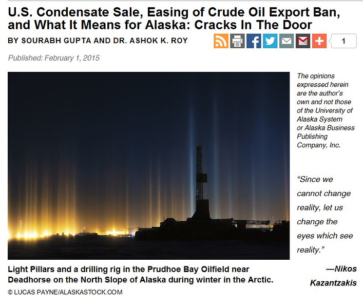 """<div class="""""""">Light Pillars and a Drilling Rig in the Prudhoe Bay Oilfield published in the February issue of <a href=""""http://www.akbizmag.com/Alaska-Business-Monthly/February-2015/US-Condensate-Sale-Easing-of-Crude-Oil-Export-Ban-and-What-It-Means-for-Alaska-Cracks-In-The-Door/"""" target=""""_blank""""><b>""""Alaska Business Monthly""""</b></a> <br> <br> <a href=""""http://www.akbizmag.com/Alaska-Business-Monthly/February-2015/US-Condensate-Sale-Easing-of-Crude-Oil-Export-Ban-and-What-It-Means-for-Alaska-Cracks-In-The-Door/"""" target=""""_blank""""><b>Click here to view photo and article.</b></a> <br> <br> <a href=""""http://www.lucaspaynephotography.com/Alaska/Prudhoe-Bay/15864500_BC29Bv#!i=3061711591&k=XGqzdvs&lb=1&s=XL"""" target=""""_blank""""><b>Click here to see this image in its original gallery and purchase a print.</b></a></div>"""