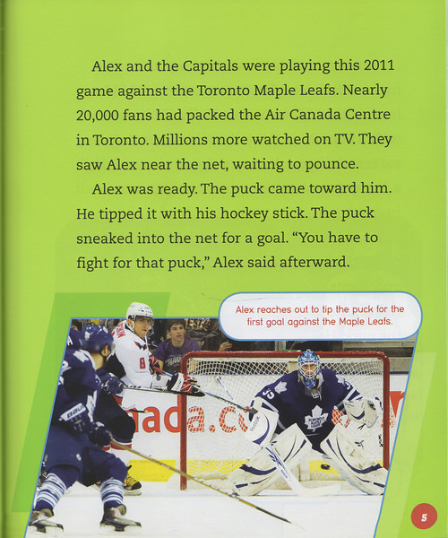 "March 1, 2012: Children's Book ""Alex Ovechkin"" by Jeff Savage Lerner Publications Company Minneapolis Page 5."