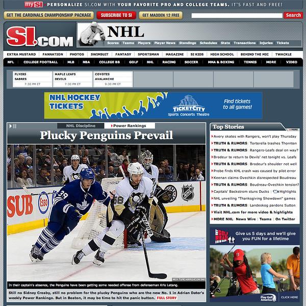 November 2, 2011: Kris Letang SI.COM.