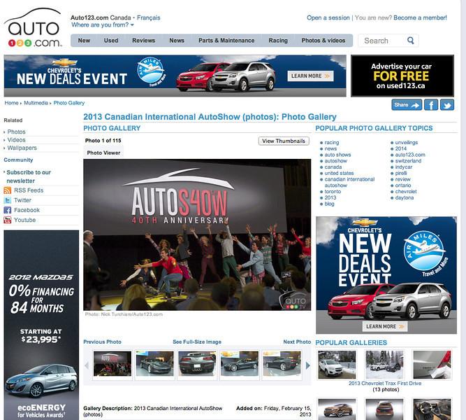 February 15, 2013: auto123.com - Canadian International Auto Show Photo Gallery.