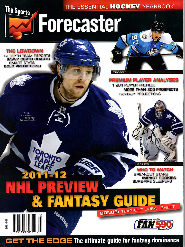 The Sports Forecaster 2011-12 NHL Preview & Fantasy Guide Cover - Toronto Maple Leafs James Reimer