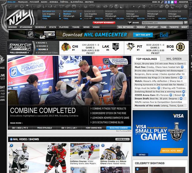 June 2, 2013: NHL.com - 2013 NHL Combine.