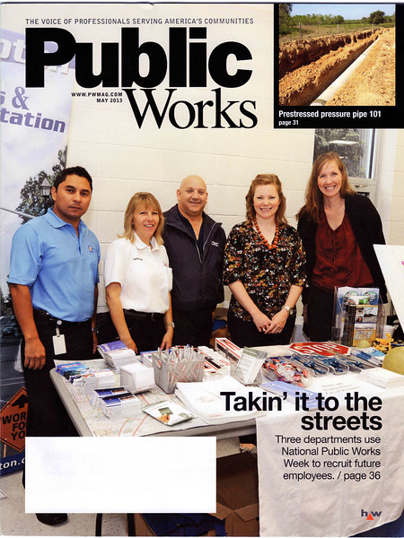 May 27, 2013: Public Works Magazine - City of Brampton Works & Transportation - High School Students Career Forum *Cover*