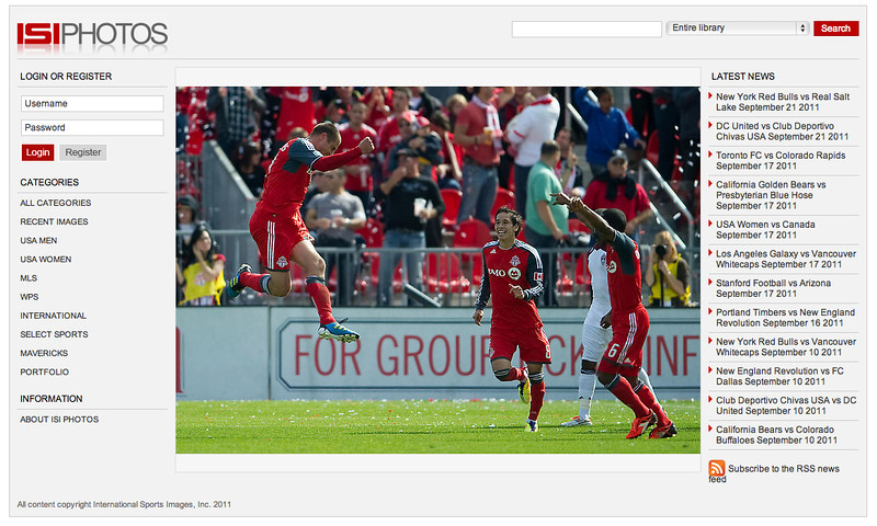 ISI Photos Web Site Lead Photo Toronto FC vs Colorado Rapids September 17,2011