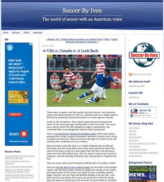 June 4, 2012: Soccer By Ives - USA vs Canada Herculez Gomez & Julian de Guzman