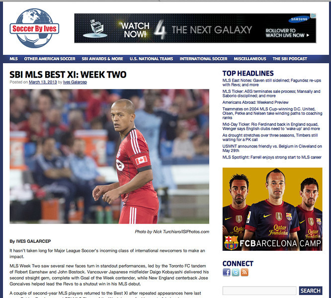 March 13, 2013: Soccer by Ives - Toronto FC forward Robert Earnshaw #10.