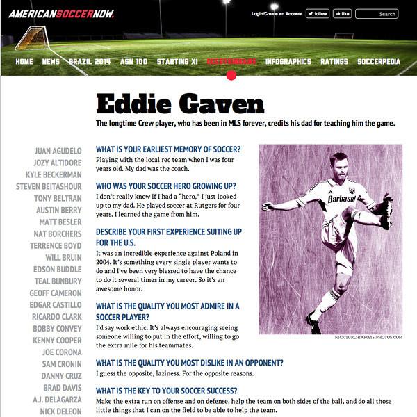 June 29, 2013: americansoccernow.com - Eddie Gaven.