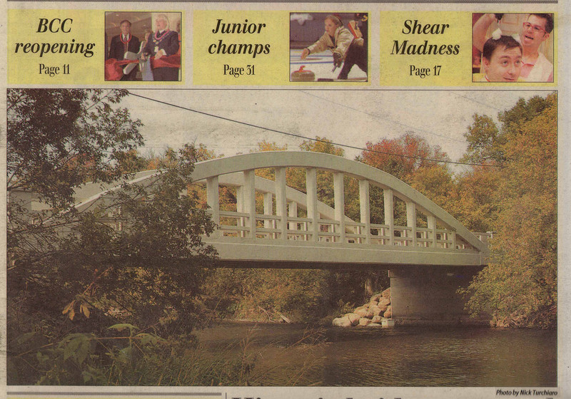 City of Brampton Churchville Bridge in Brampton, Ontario.(Front Page of The Brampton Guardian)
