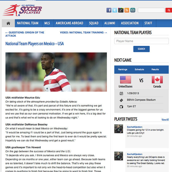 January 1,  2013: U.S National Soccer Players - Maurice Edu.