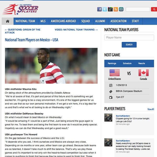 January 1,  2013: U.S National Soccer Players - Maurice Edu.