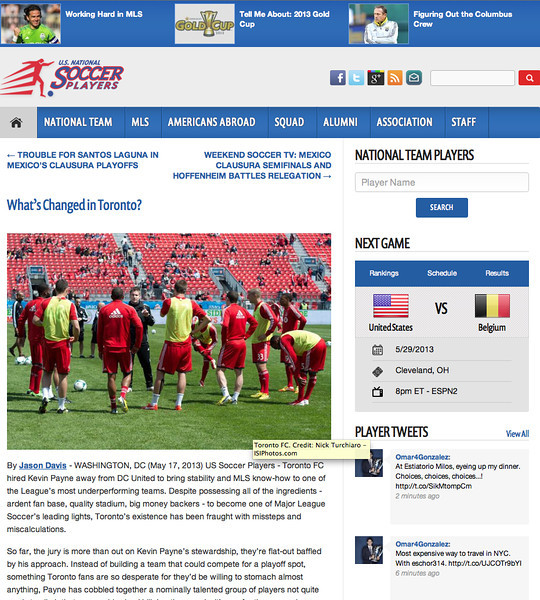 May 17, 2013: US National Soccer Players - What's Changed in Toronto? - Toronto FC