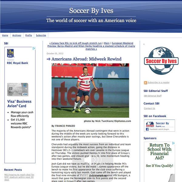 October 5, 2012: Soccer By Ives - US Men's National Soccer Team.