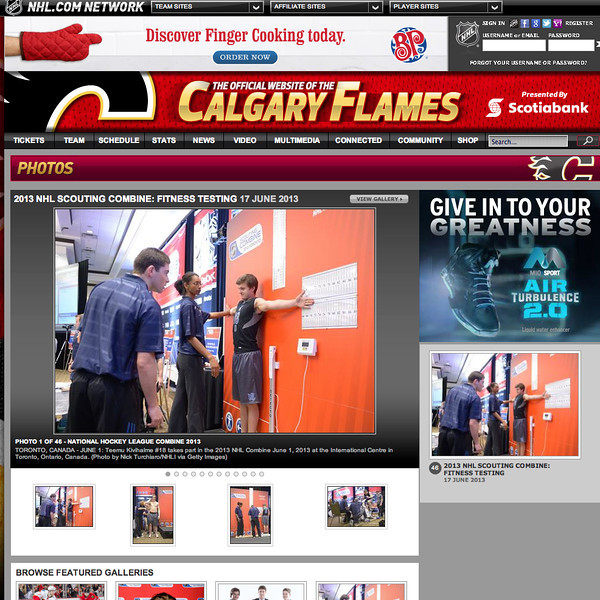 June 17, 2013: Calgary Flames - 2013 NHL Combine
