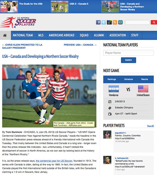 January 29, 2013: US National Soccer Players - US National Soccer Team - Clint Dempsey.