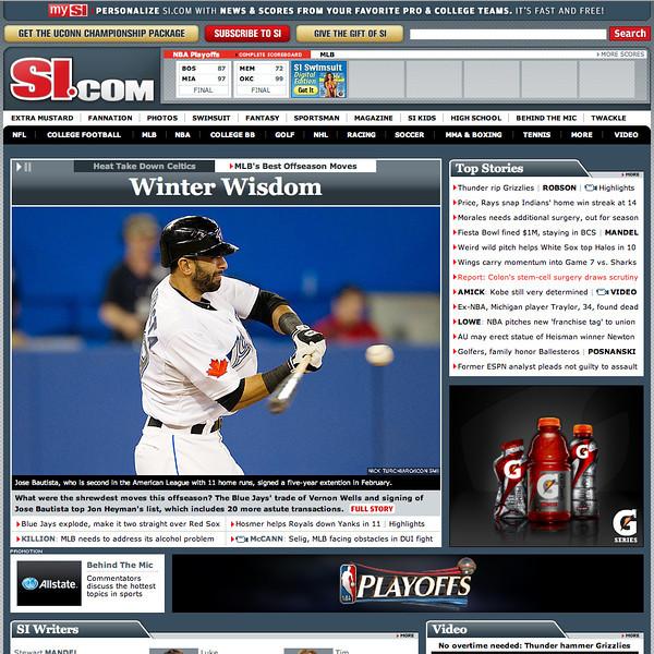 si.com Toronto Blue Jays Jose Bautista