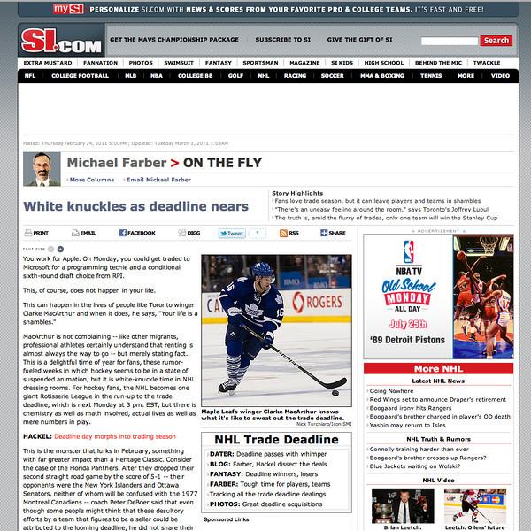 si.com Toronto Maple Leafs Clarke MacArthur