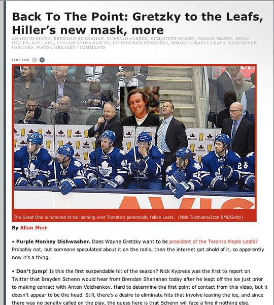 January 22, 2013: Toronto Maple Leafs Players Bench - si.com.
