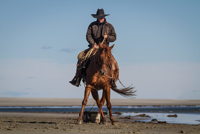 "Martin Demonstrates horsemanship while  using ""the sled"" .  Western Horseman Feature February 2017"