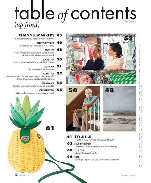 Charleston magazine, July 2017