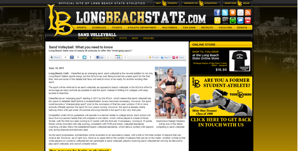 "Long Beach State - ""Sand Volleyball: What you need to know"" (September 15, 2011)"