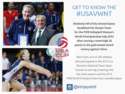 USA Volleyball Cup - Kim Hill profile (bottom image)