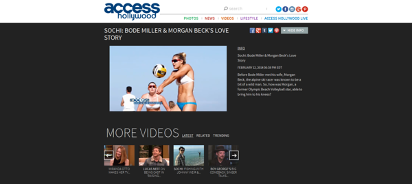 Access Hollywood - Bode Miller & Morgan Beck's Love Story (02/12/2014)