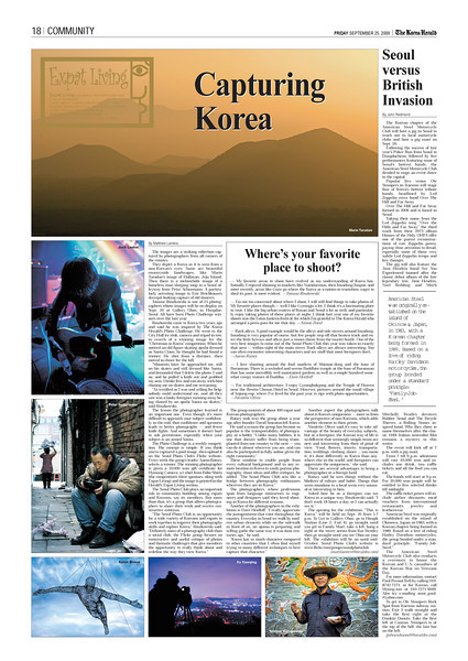 - The Korean Herald: September 25, 2009 -<br /> (Bottom Left Corner)