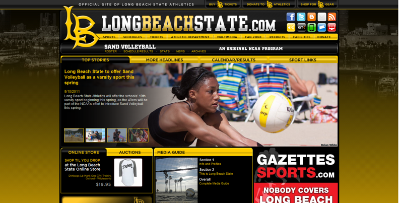 "Long Beach State feature story - ""Long Beach State to offer Sand Volleyball as a varsity sport this spring"" (September 15, 2011)"