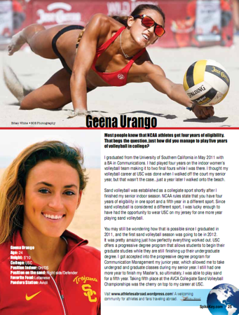 SpikeKey Beach Magazine v2014 - Geena Urango profile
