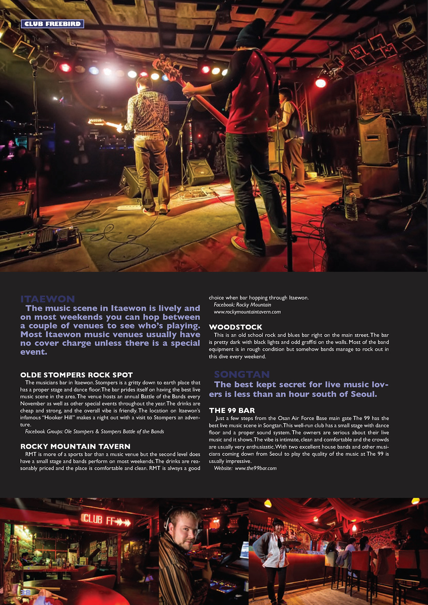 - Groove Magazine: March, 2010 - (Live Music Venues Cont. - Freebird, Club FF, Freebird - DJ Paul Hillier, Club Ta)
