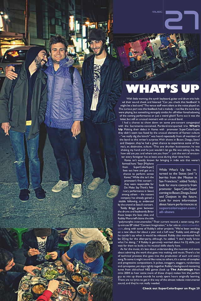 - Groove Magazine: May, 2010 -<br /> (What's Up?)