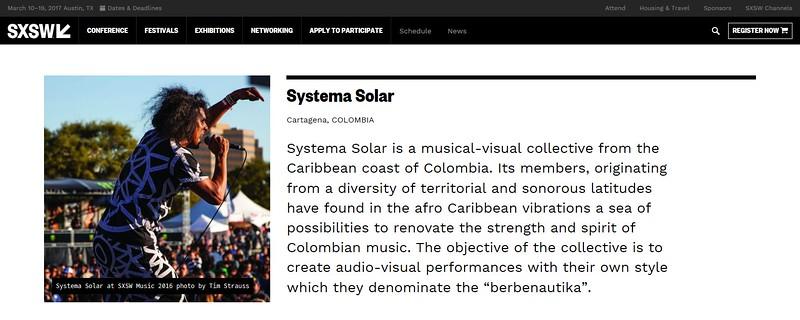 "www.sxsw.com/artist/systema-solar/ - July 23rd, 2016.<br /> ""South By Southwest Artists - Systema Solar"" <br /> Photo by Tim Strauss"