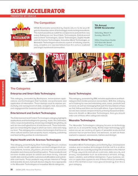 SXSW Interactive 2015 Program Guide<br /> Accelerator photo credit Tim Strauss