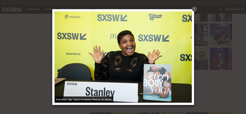 """SXSW.com - September 16th, 2017.<br /> """"SXSW Press Images 2017""""<br /> Every Body Yoga: Yoga for Everybody photo by Tim Strauss"""