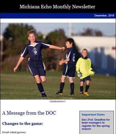 Michiana Echo Monthly Newsletter - December, 2015.<br /> Photo by Tim Strauss