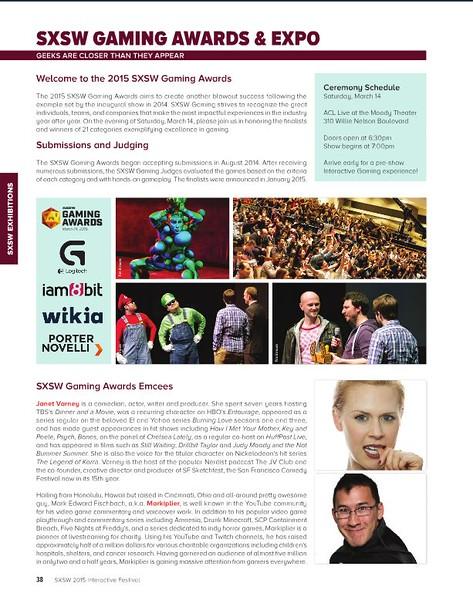 SXSW Interactive 2015 Program Guide<br /> Gaming photo credit Tim Strauss