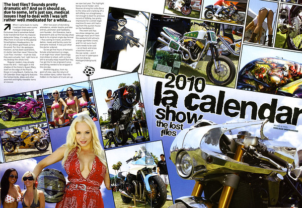 EXCLUSIVE: LA CALENDAR SHOW: THE LOST FILES COVERAGE IN STREETFIGHTERS MAG (UK) ISSUE # 207  Click on any image to use cool lightbox viewing mode!!