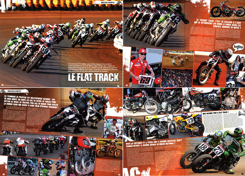 "EXCLUSIVE - AMA FLAT TRACK GRAND NATIONAL CHAMPIONSHIP COVERAGE IN STREET MONSTERS (France) ISSUE #20 <br /> <br /> 8 Pages (yes count them, eight!)  Sharing the photo credit with AMA's legendary 25+ year veteran photog Dave Hoenig - and providing an in-depth ""Discover"" feature to  French readers Hooligan Underground is proud to be in such great company (both the magazine and the lensman!). <br /> <br /> <br /> Click on any image to enlarge...now set up for XXL viewing - enjoy!!"