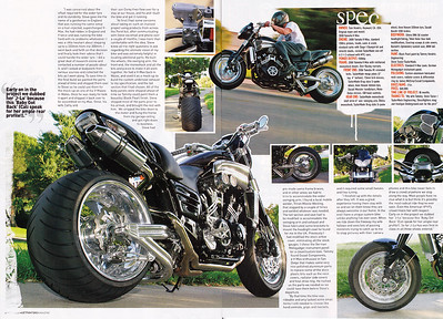 9/1/09: EXCLUSIVE!! TOM HENDRIX'S V-MAX  4-PAGE FEATURE SPREAD IN OCT. '09 / ISSUE # 188 OF STREETFIGHTERS MAG.(UK) Here's pages 3 and 4 - Shot up near San Francisco...look for it in about 3 weeks at USA newsagents.  Click on any image to enlarge...now set up for XXL viewing - enjoy!!