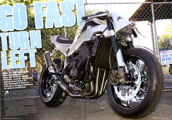 "EXCLUSIVE PREMIER: GREGGS CUSTOMS LATEST R1 TRACKER ""x9"" 4 PAGE FEATURE IN STREETFIGHTERS MAG (UK) ISSUE # 205  Click on any image to use cool lightbox viewing mode!!"