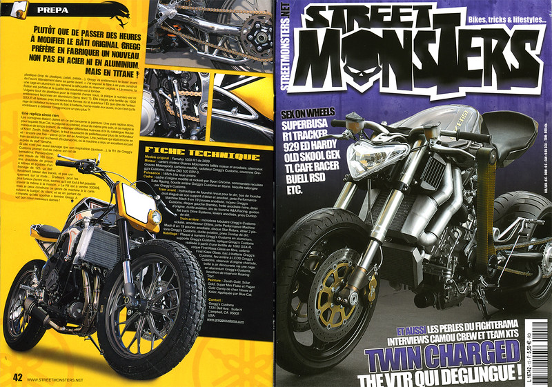 """EXCLUSIVE - 5 PAGE FEATURE SPREAD IN """"STREET MONSTERS"""" GREGG DesJARDINS R1 TRACKER!!"""