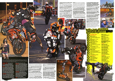 FIRST LOOK - SNEEK PEEK!! Stunt PRO File exclusive featuring Bill Dixon's first interview after winning XDL National Championship and the first look at the spec sheet for his new custom built Yamaha R6 'Tank' stunt bike...featured in Streetfighters Mag (UK) Issue # 190